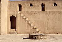 Jabrin, Oman.  View of the Fort from inside the Courtyard.