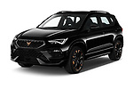 2021 Cupra Ateca - 5 Door SUV Angular Front automotive stock photos of front three quarter view