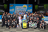NASCAR Camping World Truck Series<br /> North Carolina Education Lottery 200<br /> Charlotte Motor Speedway, Concord, NC USA<br /> Friday 19 May 2017<br /> Kyle Busch, Cessna Toyota Tundra celebrates his win in Victory Lane<br /> World Copyright: Nigel Kinrade<br /> LAT Images<br /> <br /> ref: Digital Image _DSC7346