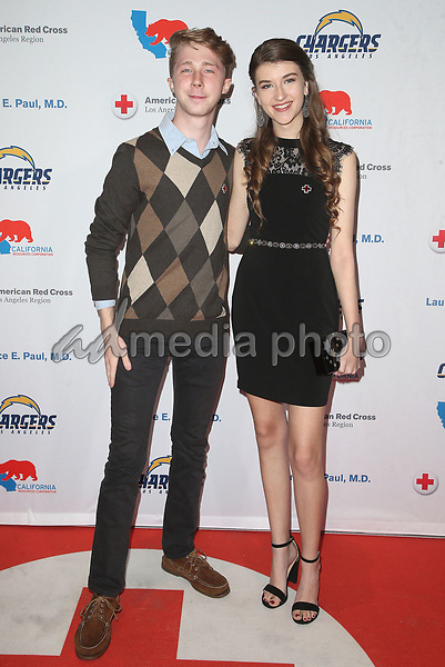 09 March 2018 - Los Angeles, California - Joey Luthman, Casey Burke. American Red Cross Annual Humanitarian Celebration Honoring The LA Chargers at the Skirball Cultural Center. Photo Credit: F. Sadou/AdMedia
