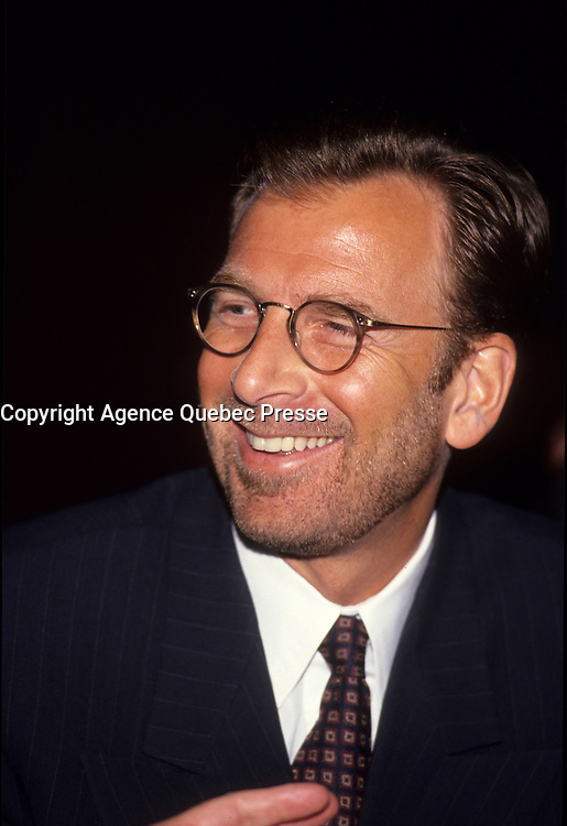 Montreal (Qc) CANADA - March 29 1999 file Photo - Edgar Bronfman Junior,CEO of Warner Music Group.<br /> <br /> born May 16, 1955), formerly CEO of Seagram and vice-chairman of Vivendi Universal, has been CEO of Warner Music Group since 2004. He is the son of Edgar Miles Bronfman and the grandson of Samuel Bronfman, patriarch of one of the wealthiest and most influential Jewish families in Canada.<br /> <br /> PHOTO :  Agence Quebec Presse