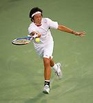 Tatsuma Ito (JPN) loses to James Blake (USA) at Legg Mason Tennis Classic in Washington D.C. on August 1, 2011.  Blake won, 6-3, 6-3.