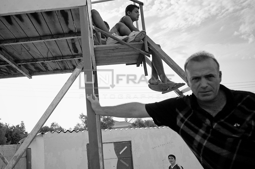 At a football match in the occupied North of Cyprus