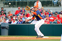 Houston Astros first baseman Nate Freiman #56 during a Spring Training game against the St. Louis Cardinals at Osceola County Stadium on March 1, 2013 in Kissimmee, Florida.  The game ended in a tie at 8-8.  (Mike Janes/Four Seam Images)