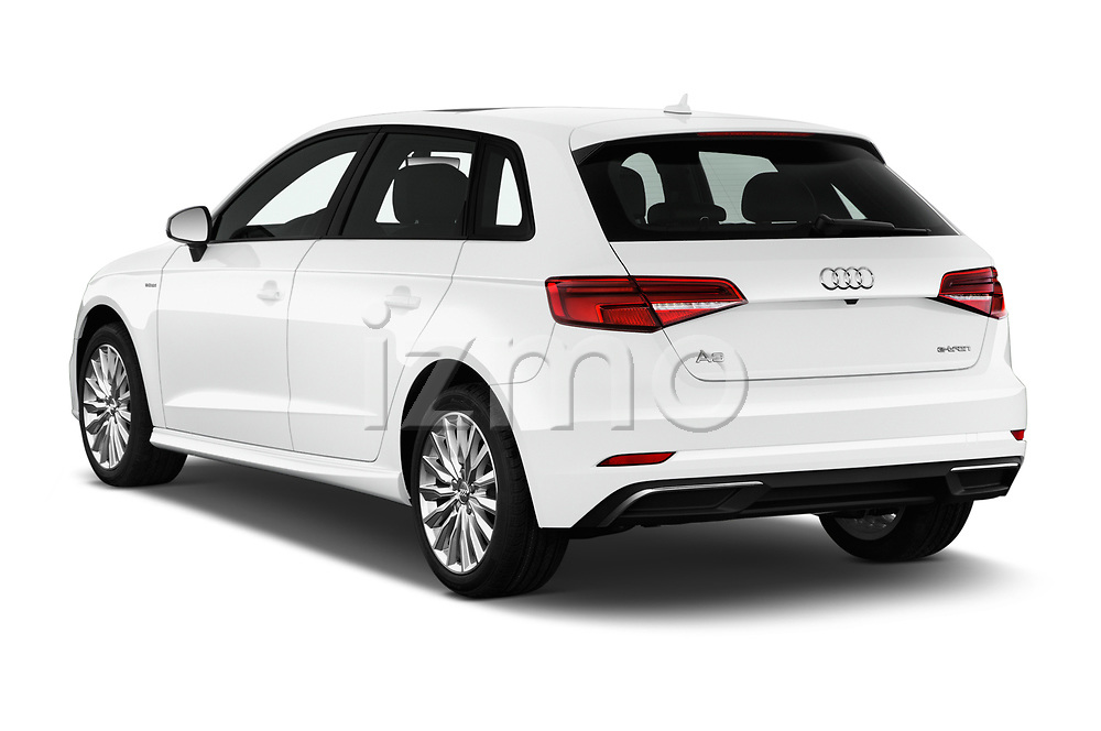 Car pictures of rear three quarter view of 2018 Audi A3 Sportback e tron Premium  5 Door Hatchback angular rear