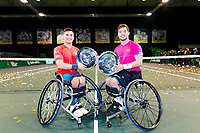 Rotterdam, The Netherlands, 14 Februari 2020, ABNAMRO World Tennis Tournament, Ahoy,   Wheelchair Doubles Final: Alfie Hewett (GBR and Gordon Reid (GBR).<br /> <br /> Photo: www.tennisimages.com