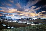 Clouds race over the Brooks Range, Sheenjek River, Arctic National Wildlife Refuge, Alaska, USA