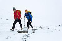 Kenton Cool and Neil Gresham on approach to Ben Nevis, Scotland