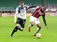 Milano  23-01-2021<br /> Stadio Giuseppe Meazza<br /> Campionato Serie A Tim 2020/21<br /> Milan - Atalanta<br /> nella foto:   Ilicic Kalulu                                                       <br /> Antonio Saia Kines Milano