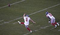 kicker Aldrick Rosas (2) of the New York Giants - 09.12.2019: Philadelphia Eagles vs. New York Giants, Monday Night Football, Lincoln Financial Field
