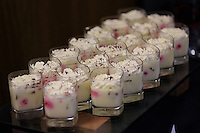 Desserts in one of the hospitality suites during the Premier League match between Swansea City and Chelsea at The Liberty Stadium on September 11, 2016 in Swansea, Wales.