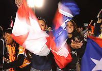 Fans of the Puerto Rica Islanders during the second leg of the USSF-D2 championship match against theCarolina Railhawks at WakeMed Soccer Park, in Cary, North Carolina on October 30 2010.