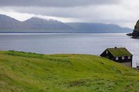 Gjógv, Gjov, Gjogv, Ort, Ortschaft, Stadt, an der Nordostküste Eysturoys, Färöer, Färöer-Inseln, Färöer Inseln, Faroe, Faeroe Islands, Les Îles Féroé, Nordatlantik, Atlantik, Atlantischer Ozean