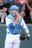 Steve Rodriguez #3 of the UCLA Bruins during game against the Oregon State Beavers at Jackie Robinson Stadium in Los Angeles,California on April 29, 2011. Photo by Larry Goren/Four Seam Images