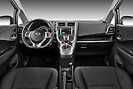 Straight dashboard view of a 2011 Subaru Trezia Comfort 5 Door Hatchback.