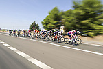 The 18 man breakaway during Stage 14 of La Vuelta d'Espana 2021, running 165.7km from Don Benito to Pico Villuercas, Spain. 28th August 2021.     <br /> Picture: Unipublic/Charly Lopez   Cyclefile<br /> <br /> All photos usage must carry mandatory copyright credit (© Cyclefile   Charly Lopez/Unipublic)