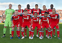 07 May 2011: The Toronto FC starting eleven during an MLS game between the Houston Dynamo and the Toronto FC at BMO Field in Toronto, Ontario..Toronto FC won 2-1.