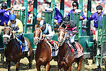 SARATOGA SPRINGS - AUGUST 27: (L-R) Forever Unbridled #3, ridden by Joel Rosario, Curalina #2, ridden by John Velazquez, and I'm a Chatterbox #1, ridden by Florent Geroux, at the start of the the Personal Ensign Stakes on Travers Stakes Day at Saratoga Race Course on August 27, 2016 in Saratoga Springs, New York. (Photo by Scott Serio/Eclipse Sportswire/Getty Images)