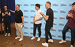 Ben Levi Ross, Michael Greif, Benj Pasek, Justin Paul and Steven Levenson attends the National Tour Photo Call for 'Dear Evan Hansen' on September 6, 2018 at the New 42nd Street Studios in New York City.