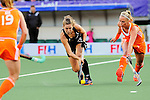 The Hague, Netherlands, June 05: Rose Keddell #24 of New Zealand shoots the ball during the field hockey group match (Women - Group A) between New Zealand and The Netherlands on June 5, 2014 during the World Cup 2014 at Kyocera Stadium in The Hague, Netherlands. Final score 0-2 (0-2) (Photo by Dirk Markgraf / www.265-images.com) *** Local caption ***
