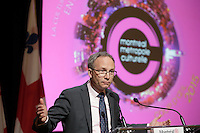 Martin Coiteux at the press conference for Montreal, Metropole Culturelle's,Coup d'oeil,<br />  April 15, 2016 at City hall.<br /> <br /> Photo : Pierre Roussel - Agence Quebec Presse<br /> <br /> <br /> <br /> <br /> <br /> <br /> <br /> <br /> .