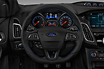 Car pictures of steering wheel view of a 2017 Ford Focus RS 5 Door Hatchback Steering Wheel