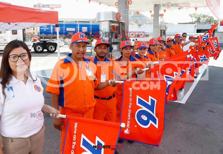 Gasolinera de la marca 76 inicia en la localidad con la inauguración de la primera estación ubicada en Luis Encinas y Revolución.<br /> (Photo: Luis Gutierrez / NortePhoto)<br /> <br /> <br /> Keywords: Expendedores de Petróleo, Onexpo, Windstar, gasoline  <br /> <br /> Gasoline brand 76 starts in the town with the opening of the first station located in Luis Encinas and Revolution.<br /> (Photo: Luis Gutierrez / NortePhoto)<br /> <br /> <br /> Keywords: Oil Expenders, Onexpo, Windstar, gasoline .<br /> <br /> <br /> <br /> first gasoline station 76 in Hermosillo.Windstar. Gas station. Gasoline service diesel.