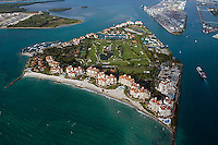 aerial photograph Fisher Island Biscayne Bay Miami Dade county Florida