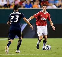 Johnny Evans, Nick Zimmerman. Manchester United defeated Philadelphia Union, 1-0.