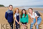 Enjoying the beach in Ballybunion on Monday.<br /> L to r: Eabha, Liadh and Alanna O'Brien and Isobel O'Connor.