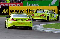 2001 British Touring Car Championship #8 Matt Neal (GBR) & #22 Dan Eaves (GBR). Peugeot Sport UK. Peugeot 406 Coupé.
