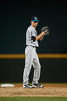 Tampa Tarpons relief pitcher Phillip Diehl (11) gets ready to deliver a pitch during a game against the Bradenton Marauders on April 25, 2018 at LECOM Park in Bradenton, Florida.  Tampa defeated Bradenton 7-3.  (Mike Janes/Four Seam Images)