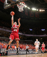 NC State's Dennis Horner_Virginia held North Carolina State scoreless for more than 7 minutes on the way to a 59-47 victory Wednesday night at the John Paul Jones Arena in Charlottesville, VA. Virginia (14-6, 5-2 Atlantic Coast Conference) regained a share of first place in the conference. (Photo/Andrew Shurtleff)....
