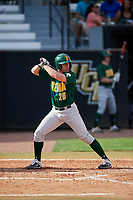 Siena Saints first baseman Eddie Sweeney (20) at bat during a game against the UCF Knights on February 17, 2019 at John Euliano Park in Orlando, Florida.  UCF defeated Siena 7-1.  (Mike Janes/Four Seam Images)
