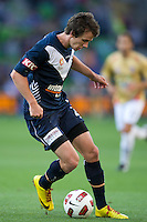 MELBOURNE, AUSTRALIA - DECEMBER 27: Robbie Kruse of the Victory controls the ball during the round 20 A-League match between the Melbourne Victory and the Newcastle Jets at AAMI Park on December 27, 2010 in Melbourne, Australia. (Photo by Sydney Low / Asterisk Images)