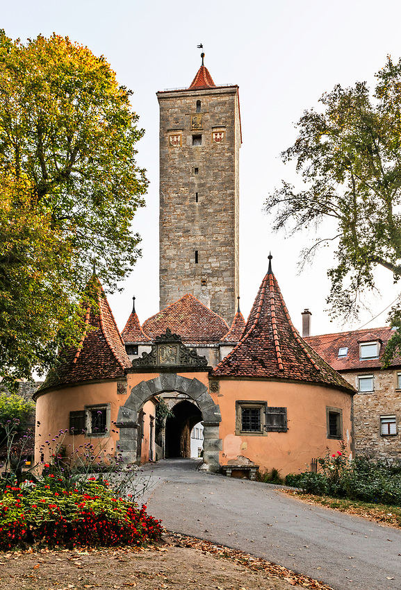 The Burgtor, or Castle Gate, was built in the mid-14th century after an earthquake destroyed the nearby castle and part of the town's fortifications.