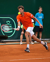 Austria, Kitzbühel, Juli 17, 2015, Tennis, Davis Cup, Second match between Robin Haase (NED and Andreas Haider-Maurer (AUT), pitcured: Robin Haase<br /> Photo: Tennisimages/Henk Koster
