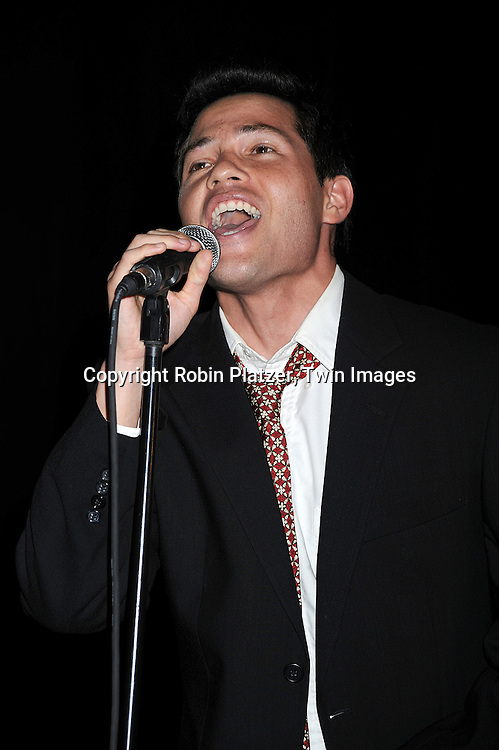 """One Life to Live's Jason Tam singing..at The """"Spare Some Change:NYC Artists for Barack Obama""""  fundraiser on August 11, 2008 at The Fifth Floor Theatre at New York University. ....Robin Platzer, Twin Images"""