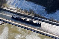 Elbe Luebeck Kanal: EUROPA, DEUTSCHLAND, SCHLESWIG- HOLSTEIN,(EUROPE, GERMANY), 17.02.2009: Elbe-Luebeck-Kanal, Naturpark Lauenburgische Seen, Schleswig-Holstein, Flusslandschaft des Elbe-Luebeck-Kanals, Elbe Luebeck Canal,  Binnenschiff, eng, Transportweg, Ausbau,, hohes Verkehrsaufkommen, Weg nach Skandinavien, Schifffahrt, Logistik, <br />c o p y r i g h t : A U F W I N D - L U F T B I L D E R . de<br />G e r t r u d - B a e u m e r - S t i e g 1 0 2, <br />2 1 0 3 5 H a m b u r g , G e r m a n y<br />P h o n e + 4 9 (0) 1 7 1 - 6 8 6 6 0 6 9 <br />E m a i l H w e i 1 @ a o l . c o m<br />w w w . a u f w i n d - l u f t b i l d e r . d e<br />K o n t o : P o s t b a n k H a m b u r g <br />B l z : 2 0 0 1 0 0 2 0 <br />K o n t o : 5 8 3 6 5 7 2 0 9<br />V e r o e f f e n t l i c h u n g  n u r  m i t  H o n o r a r  n a c h M F M, N a m e n s n e n n u n g  u n d B e l e g e x e m p l a r !