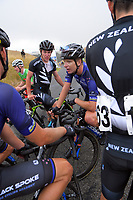 Aaron Gate (New Zealand/Black Spoke Pro Cycling Academy) with teammates after stage four of the NZ Cycle Classic UCI Oceania Tour (Te Wharau-Admiral Hill Queen Stage) in Wairarapa, New Zealand on Saturday, 18 January 2020. Photo: Dave Lintott / lintottphoto.co.nz