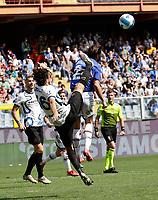 12th September 2021; G.Ferraris Stadium, Genoa, Italy; Serie A football, Sampdoria versus Inter Milan; Matteo Darmian of Inter with a very high foot in on Bereszynski of Sampdoria
