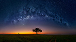 Pictured: The Milky Way at Masai Mara, Kenya<br /> <br /> This beautiful series of photographs shows the Milky Way as seen from different continents around the world.   Photographer Hua Zhu travelled the globe over the course of four years to capture the starry night sky from already stunning locations. <br /> <br /> The medical professor visited picturesque landmarks in the USA, Kenya, New Zealand and China, including the Great Wall in Beijing.  Chinese Dr Zhu, who lives in New Jersey, USA, said he meticulously planned the trips by researching when the Milky Way would be on show.   SEE OUR COPY FOR DETAILS<br /> <br /> Please byline: Hua Zhu/Solent News<br /> <br /> © Hua Zhu/Solent News & Photo Agency<br /> UK +44 (0) 2380 458800