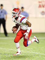 Manatee Hurricanes wide receiver Ja Juan Pollock #3 returns a kick during the first quarter of the Florida High School Athletic Association 7A Championship Game at Florida's Citrus Bowl on December 16, 2011 in Orlando, Florida.  The score at halftime is Manatee 17 - First Coast 0.  (Mike Janes/Four Seam Images)