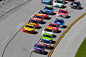 Monster Energy NASCAR Cup Series<br /> GEICO 500<br /> Talladega Superspeedway, Talladega, AL USA<br /> Sunday 7 May 2017<br /> Denny Hamlin, Joe Gibbs Racing, FedEx Express Toyota Camry and Kyle Busch, Joe Gibbs Racing, Skittles Red, White, & Blue Toyota Camry<br /> World Copyright: Nigel Kinrade<br /> LAT Images<br /> ref: Digital Image 17TAL1nk06084