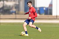 BRADENTON, FL - JANUARY 23: Tristan Blackmon passes the ball during a training session at IMG Academy on January 23, 2021 in Bradenton, Florida.