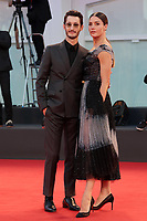 VENICE, ITALY - SEPTEMBER 03: Natasha Andrews and Pierre Niney arrive on the red carpet ahead of the movie Amants at the 77th Venice Film Festival at on September 03, 2020 in Venice, Italy. PUBLICATIONxNOTxINxUSA Copyright: xAnnalisaxFlori/MediaPunchx <br /> ITALY ONLY