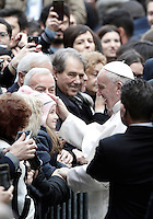 Pope Francis arrives at Roma Tre University for a meeting with students and professors. Rome, on February 17, 2017.<br /> UPDATE IMAGES PRESS/Isabella Bonotto-POOL<br /> <br /> STRICTLY ONLY FOR EDITORIAL USE