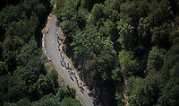 The elite Tour contenders' group up the Lacets de Montvernier (2C/782m/3.4km, 8.2%)<br /> <br /> stage 18: Gap - St-Jean-de-Maurienne (187km)<br /> 2015 Tour de France