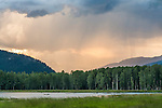 Thunderstorm over the Skagit Valley as seen from Ross Lake, British Colombia, Canada.