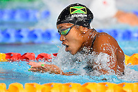 Alia Atkinson of JAM competes in 100 meter breaststroke final during Commonwealth Games Swimming, Monday, July 28, 2014 in Glasgow, United Kingdom. (Mo Khursheed/TFV Media via AP Images)